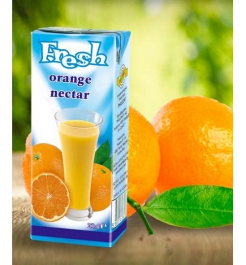 "Фреш ""Портокал"", 250мл. Tetra pak кутия"