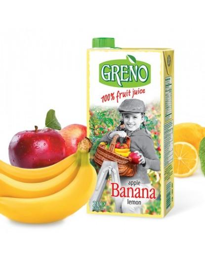 Грено Ябълка Банан Лимон 2л 100% сок